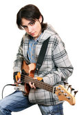 Young man rock musician — Stock Photo
