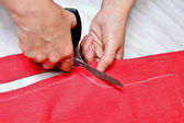 Fabric cutting scissors — Stock Photo