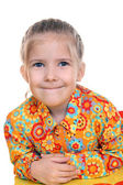 Joyful emotions 6-year old beautiful girl — Stock Photo