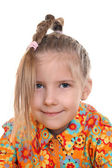 A girl with a pigtail — Stock Photo