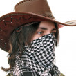 Stock Photo: Teen in kufiyand Stetson
