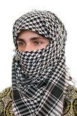 Teen in kufiya — Stock Photo