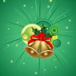 Christmas bell, vector design — Stock Vector