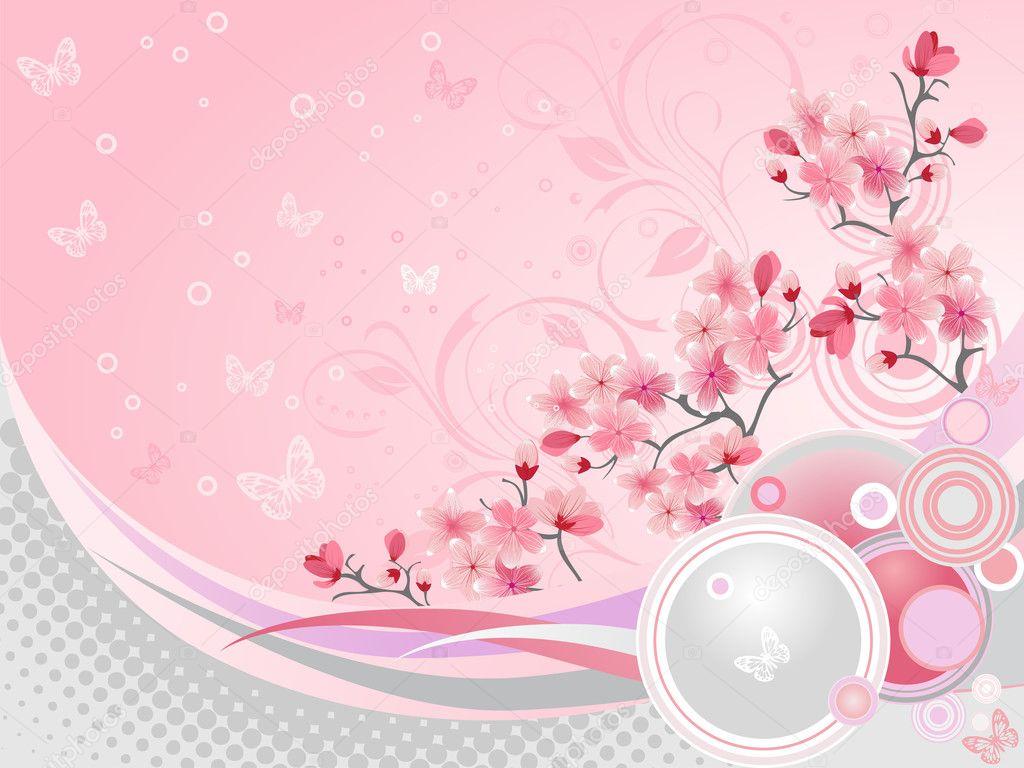 Japanese Vector Wallpaper Japanese Cherry Blossom
