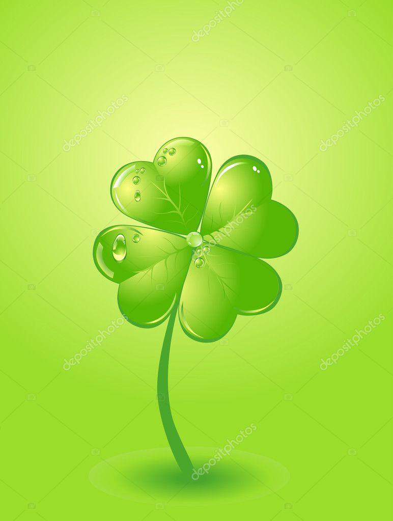 Four-leafs clover — Stock Vector #4536984
