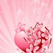 Valentines Day background. Vector illustration — Vettoriali Stock
