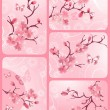 Cherry blossom set — Stock vektor