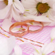 Rings and flowers — Stock Photo #4343531