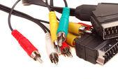 视频 rca 电缆 — 图库照片
