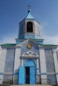 Gevel van een orthodoxe tempel — Stockfoto