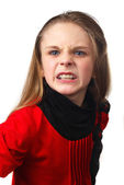 Young girl with emotion — Stock Photo