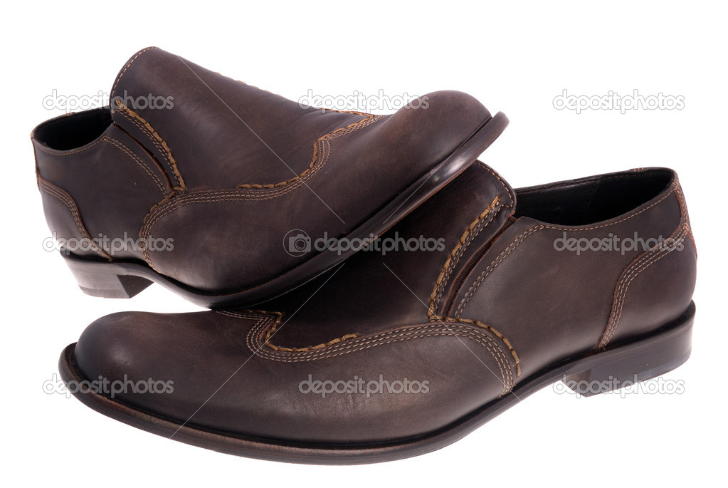 Brown shoes isolated on the white background — Stock Photo #4344867