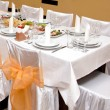 Food at banquet table — Foto de Stock