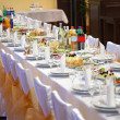 Food at banquet table — Stock Photo #3978736