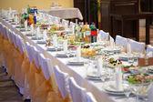 Yiyecek Ziyafet masada — Stok fotoğraf