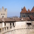 Stock Photo: Walls and tower of the medieval castle