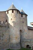 Walls and tower of the medieval castle — Stock Photo
