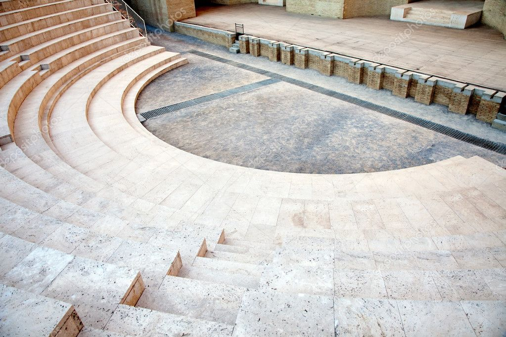The fragment of ancient theatre in Sagunto.Spain — Stock Photo #5317260