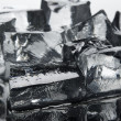 Clear ice cubes closeup — Stock Photo