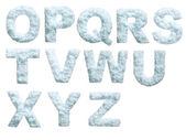 Snow alphabet — Stock Photo