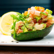 Salad from prawn and avocado - Zdjęcie stockowe