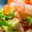 Royalty-Free Stock Photo: Salad of shrimps and avocado