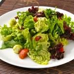 Salad with mozzarella and cherry tomatoes — Stock Photo #5115425
