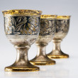 Three ancient wine cup — Stock Photo