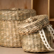 Two wattled baskets — Stok fotoğraf