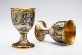 Two ancient wine cup — Stock Photo