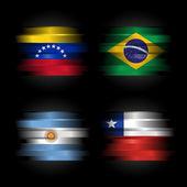 Set di bandiere del sud america — Foto Stock