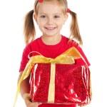 Cute girl wih the gift — Stock Photo #4026419