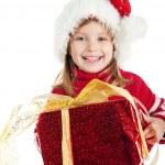 Cute girl wih the gift — Stock Photo #4026489