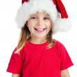 Little girl in a santa claus hat — Stock Photo #4026508