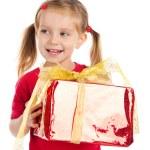 Cute girl wih the gift — Stock Photo #4026535