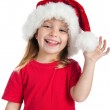 Little girl in a santa claus hat — Stock Photo #4026586