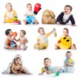 Collection photos of a toddlers - Stock Photo