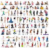 Big collection of a photos — Stock Photo