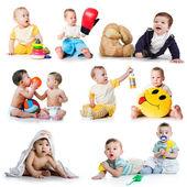 Bir küçük çocuklar koleksiyonu fotoğrafları — Stok fotoğraf