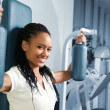 Young women at the fitness club — Stock Photo #4129095