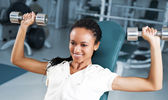 Young women at the fitness club — Stock Photo