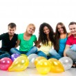 Stock Photo: Teenagers party
