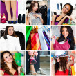 Stock Photo: Shopping collage
