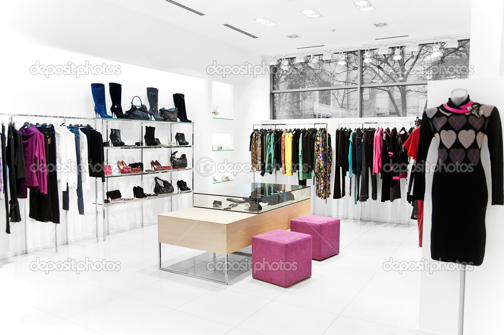 Interior of the shop. Clothing sales point women   Stock Photo #4470332