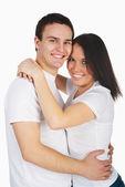 Smiling couple isolated — Stock Photo