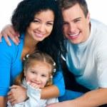 mutlu bir aile — Stok fotoğraf #4869717