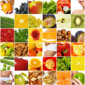 Diet nutrition collage — Stock Photo