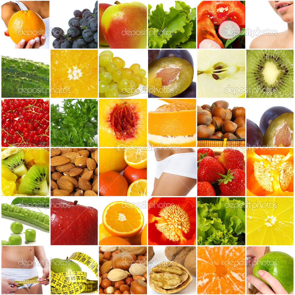 Diet nutrition collage - Stock Image