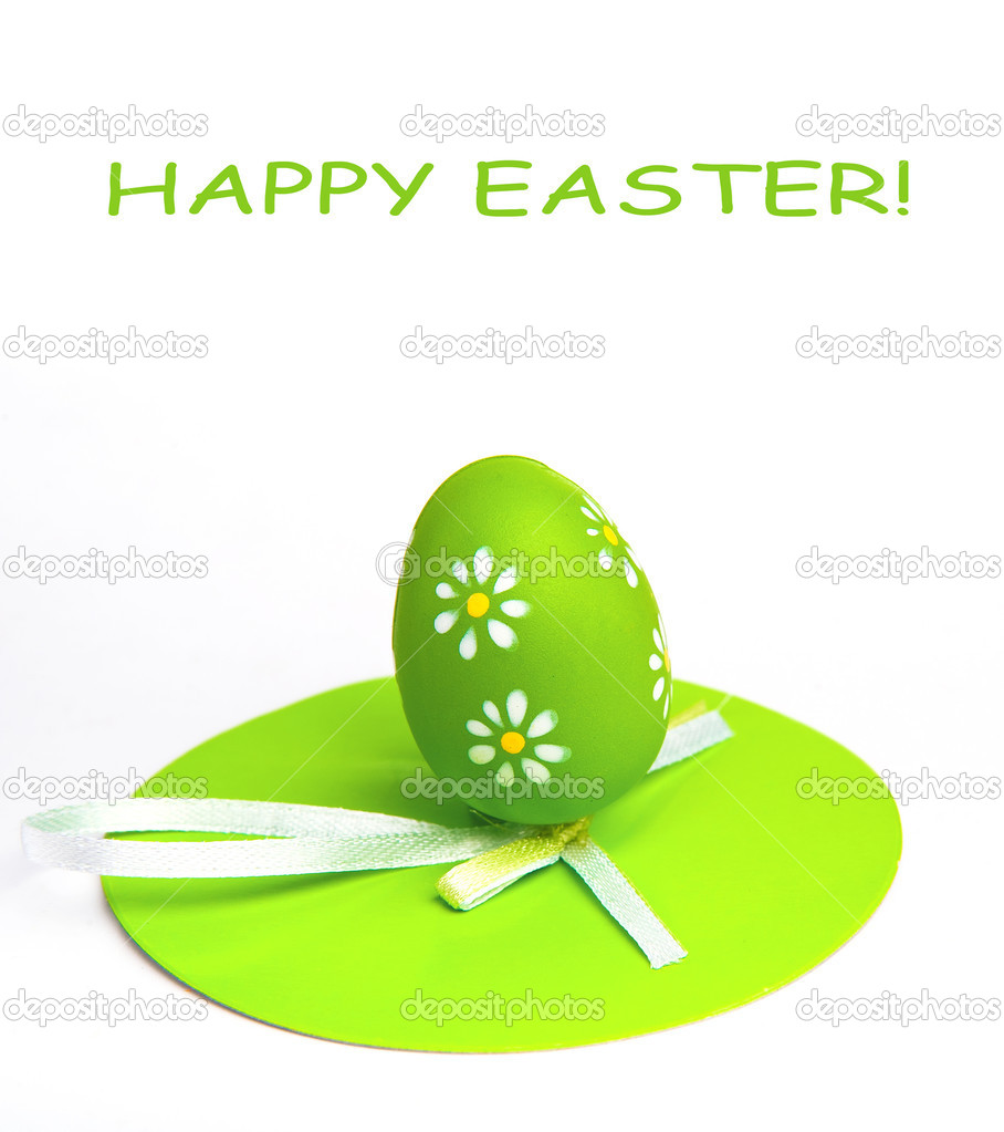 Painted Colorful Easter Egg on white background — Stock Photo #5266048