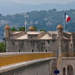 Bastion in old port of Menton - Stock Photo